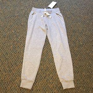 NWT Size XXS Women's Grey Fabletics Jogger Pants